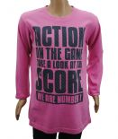 Wholesale Ex Chainstore Girls Long Sleeve T-Shirt Top Action Print Pink
